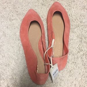 Anthropologie Jessica Flats - size 8 red/rouge